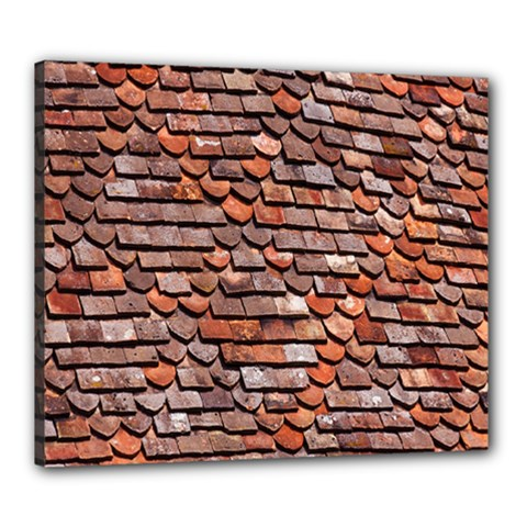 Roof Tiles On A Country House Canvas 24  X 20  by Amaryn4rt