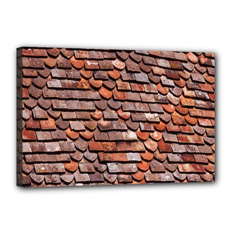 Roof Tiles On A Country House Canvas 18  X 12  by Amaryn4rt