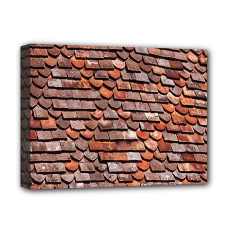 Roof Tiles On A Country House Deluxe Canvas 16  X 12   by Amaryn4rt
