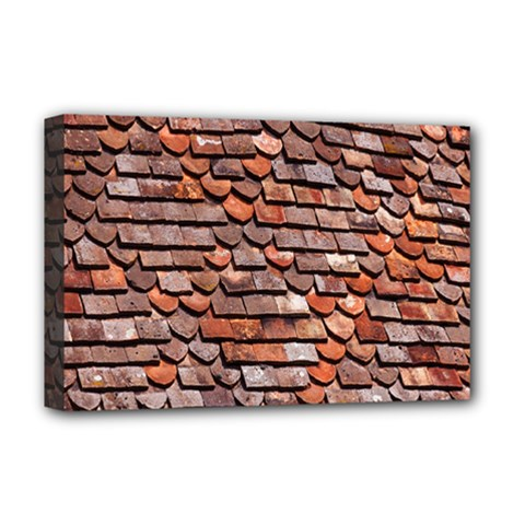 Roof Tiles On A Country House Deluxe Canvas 18  X 12   by Amaryn4rt