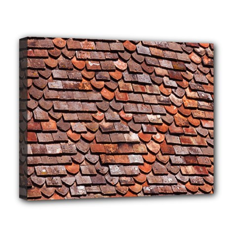 Roof Tiles On A Country House Deluxe Canvas 20  X 16   by Amaryn4rt