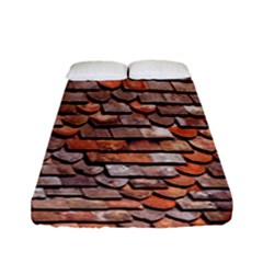 Roof Tiles On A Country House Fitted Sheet (full/ Double Size) by Amaryn4rt