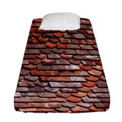 Roof Tiles On A Country House Fitted Sheet (single Size) by Amaryn4rt