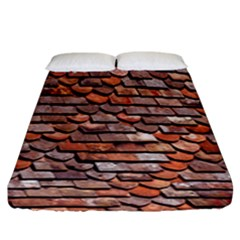 Roof Tiles On A Country House Fitted Sheet (king Size) by Amaryn4rt