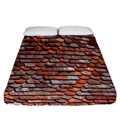 Roof Tiles On A Country House Fitted Sheet (california King Size) by Amaryn4rt