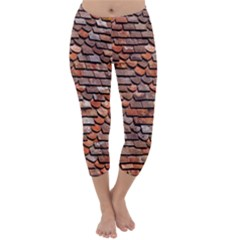 Roof Tiles On A Country House Capri Winter Leggings