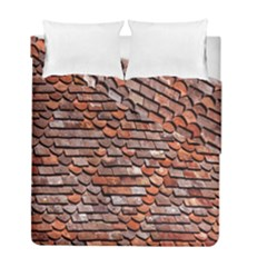 Roof Tiles On A Country House Duvet Cover Double Side (full/ Double Size) by Amaryn4rt