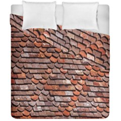 Roof Tiles On A Country House Duvet Cover Double Side (california King Size) by Amaryn4rt