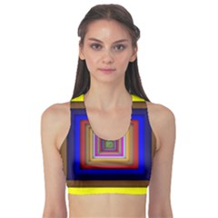 Square Abstract Geometric Art Sports Bra by Amaryn4rt