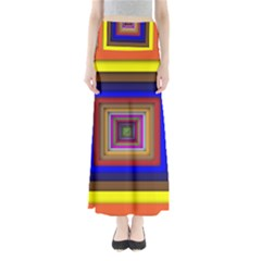 Square Abstract Geometric Art Maxi Skirts by Amaryn4rt