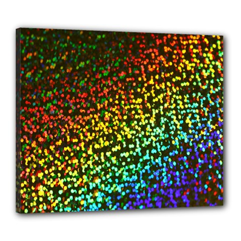 Construction Paper Iridescent Canvas 24  X 20  by Amaryn4rt