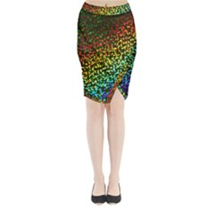 Construction Paper Iridescent Midi Wrap Pencil Skirt by Amaryn4rt