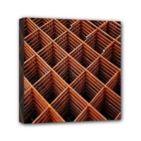 Metal Grid Framework Creates An Abstract Mini Canvas 6  X 6  by Amaryn4rt