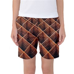 Metal Grid Framework Creates An Abstract Women s Basketball Shorts by Amaryn4rt