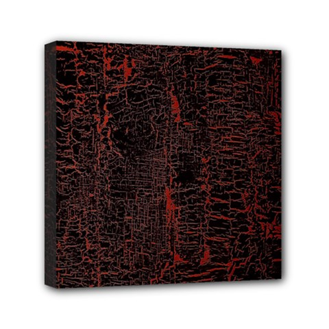 Black And Red Background Mini Canvas 6  X 6  by Amaryn4rt