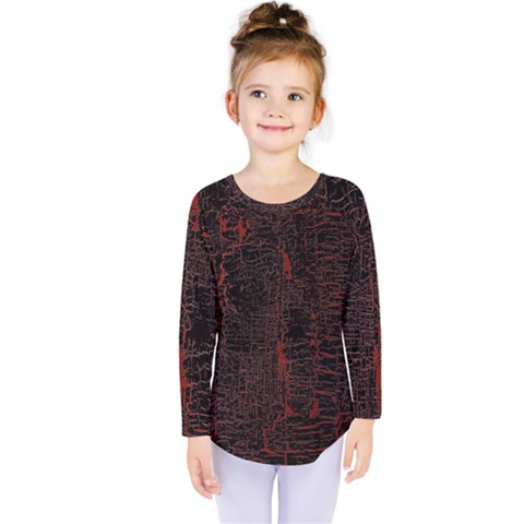 Black And Red Background Kids  Long Sleeve Tee by Amaryn4rt