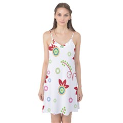 Colorful Floral Wallpaper Background Pattern Camis Nightgown