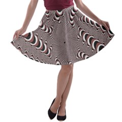 Digital Fractal Pattern A Line Skater Skirt