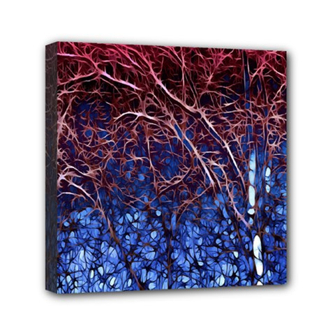 Autumn Fractal Forest Background Mini Canvas 6  X 6