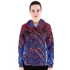 Autumn Fractal Forest Background Women s Zipper Hoodie