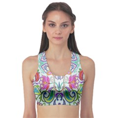 Wallpaper Created From Coloring Book Sports Bra by Amaryn4rt