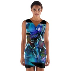 Water Is The Future Wrap Front Bodycon Dress