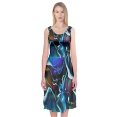 Water Is The Future Midi Sleeveless Dress by Amaryn4rt