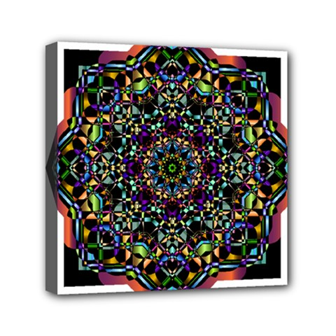 Mandala Abstract Geometric Art Mini Canvas 6  X 6