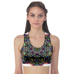 Mandala Abstract Geometric Art Sports Bra