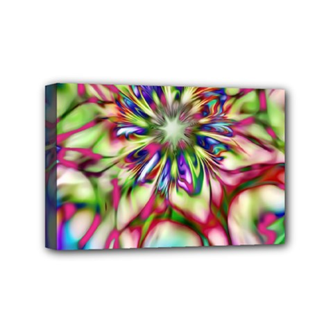 Magic Fractal Flower Multicolored Mini Canvas 6  X 4