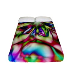 Magic Fractal Flower Multicolored Fitted Sheet (full/ Double Size) by EDDArt
