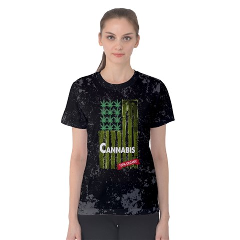 Cannabis Women s Cotton Tee by PattyVilleDesigns