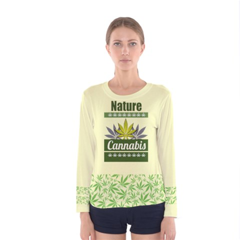 Cannabis Women s Long Sleeve Tee by PattyVilleDesigns