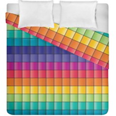 Pattern Grid Squares Texture Duvet Cover Double Side (king Size)