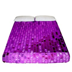 Purple Background Scrapbooking Paper Fitted Sheet (california King Size) by Amaryn4rt