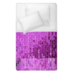 Purple Background Scrapbooking Paper Duvet Cover (single Size) by Amaryn4rt