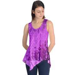 Purple Background Scrapbooking Paper Sleeveless Tunic