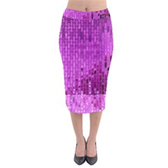Purple Background Scrapbooking Paper Midi Pencil Skirt