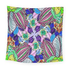Wallpaper Created From Coloring Book Square Tapestry (large) by Amaryn4rt