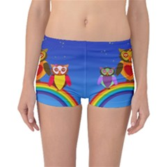 Owls Rainbow Animals Birds Nature Boyleg Bikini Bottoms by Amaryn4rt