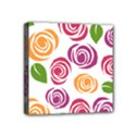 Colorful Seamless Floral Flowers Pattern Wallpaper Background Mini Canvas 4  x 4  View1