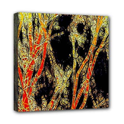 Artistic Effect Fractal Forest Background Mini Canvas 8  X 8  by Amaryn4rt