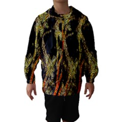 Artistic Effect Fractal Forest Background Hooded Wind Breaker (kids) by Amaryn4rt