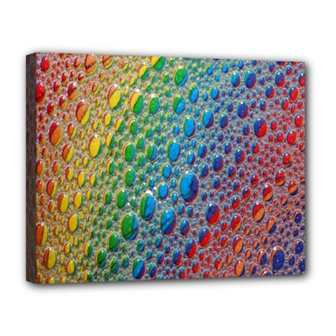 Bubbles Rainbow Colourful Colors Canvas 14  X 11  by Amaryn4rt