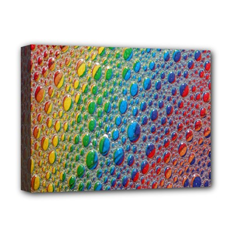 Bubbles Rainbow Colourful Colors Deluxe Canvas 16  X 12   by Amaryn4rt