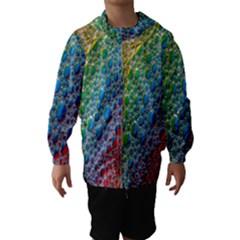 Bubbles Rainbow Colourful Colors Hooded Wind Breaker (kids) by Amaryn4rt