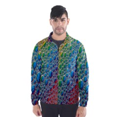 Bubbles Rainbow Colourful Colors Wind Breaker (men) by Amaryn4rt