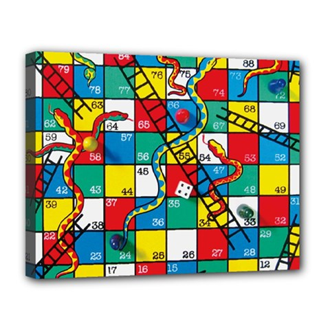 Snakes And Ladders Canvas 14  X 11  by Amaryn4rt