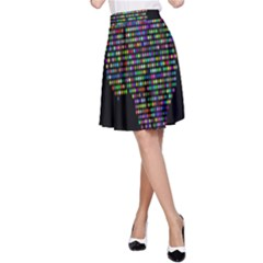 World Earth Planet Globe Map A Line Skirt