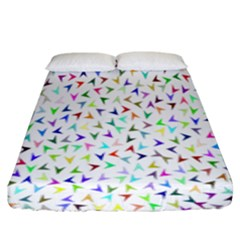 Pointer Direction Arrows Navigation Fitted Sheet (king Size) by Amaryn4rt